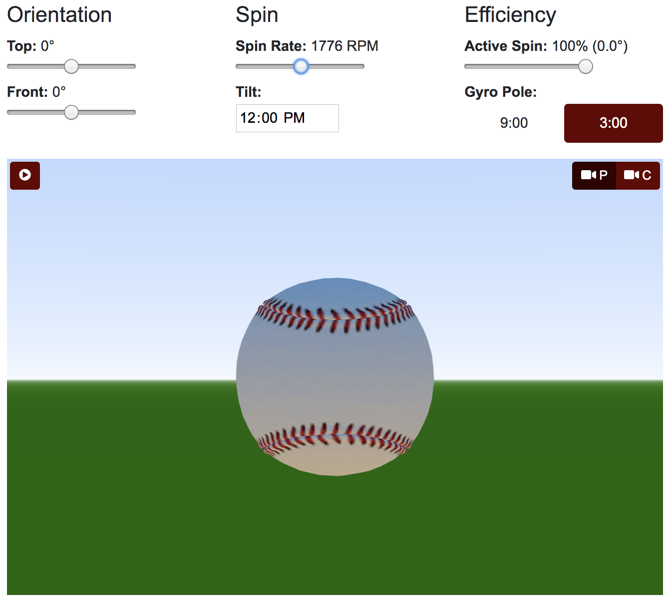 Pitch Spin Modeler